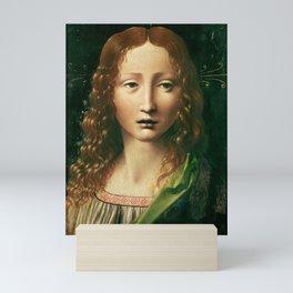 "Leonardo da Vinci ""Head of the Saviour"" Mini Art Print"