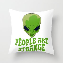 Be strange even in the outer space with this unique and creepy tee design! Makes a nice gift too!  Throw Pillow