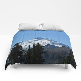 Snow Cap on the Mountain Comforters