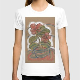 Pink Potted Flower T-shirt