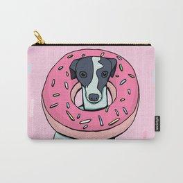Iggy with a Doughnut - Italian Greyhound - Sweet - Sprinkles Carry-All Pouch
