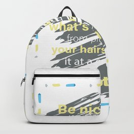 Be Nice Evidence Joker or Funny Person Gift Backpack