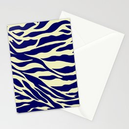blue zebra Stationery Cards