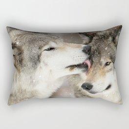 Wolf Kisses Rectangular Pillow