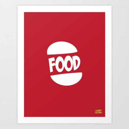 FOOD logo fun generic food logo Art Print