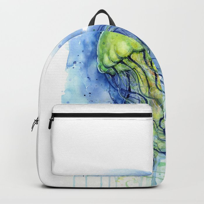 Jellyfish Watercolor Beautiful Sea Creatures Backpack
