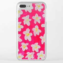 Pink Lacy Clear iPhone Case