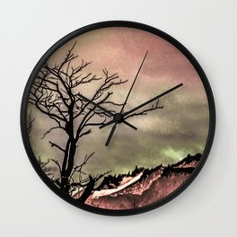 Fantasy Landscape Illustration Wall Clock