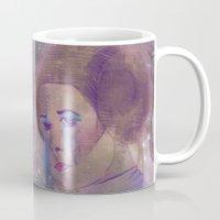 princess leia Mugs featuring Princess Leia  by Mara Valladares