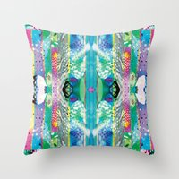 kaleidoscope Throw Pillows featuring kaleidoscope by Xenia Pirovskikh
