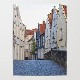 Belgium, Cobblestone Street 3 Poster