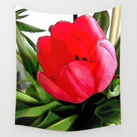 tulip Wall Tapestries featuring Tulip by Mr and Mrs Quirynen