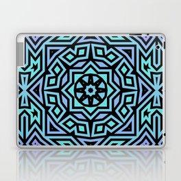 Aqua/Lilac/Black Tribal Pattern Laptop & iPad Skin