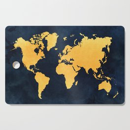 Map of the World - Inverted Gold Cutting Board