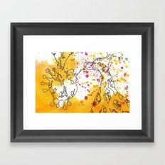 Polychromatic Confetti Framed Art Print