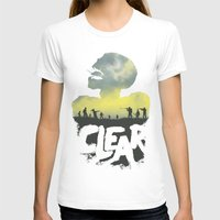 clear T-shirts featuring CLEAR by Kidney Theft