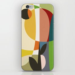 mid century garden II iPhone Skin
