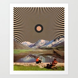 Mountain day Art Print