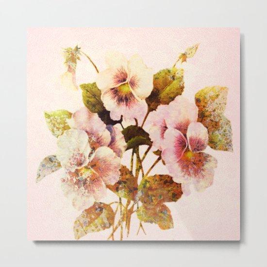 pink pansies Metal Print
