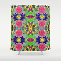 rio Shower Curtains featuring Rio Regalia by Glanoramay