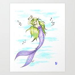 Merdancer Art Print