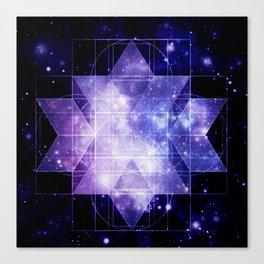 galaxy sacred Geometry Canvas Print