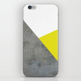 Concrete vs Corn Yellow iPhone Skin
