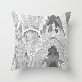 Detail of the facade ( Sagrada Familia ) Throw Pillow