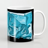 crystal Mugs featuring CRYSTAL by clogtwo