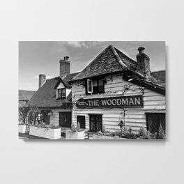 The Woodman Pub Metal Print
