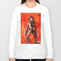 western Long Sleeve T-shirts featuring Western by Tom Ryan