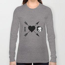 I Love (Heart) Edgar Allan Poe Long Sleeve T-shirt