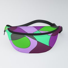 Abstract pattern Cuts Fanny Pack