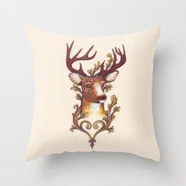 Stag Illustration 1/6 Throw Pillow
