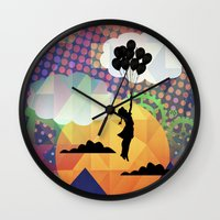 collage Wall Clocks featuring collage by mark ashkenazi