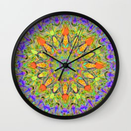 Abstract Flower AAA QQ YYY Wall Clock