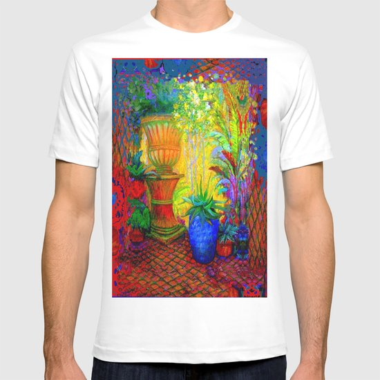 Fantasy italian garden landscape design t shirt by for Garden t shirt designs