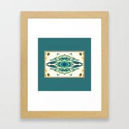 blue grass mosaic Framed Art Print
