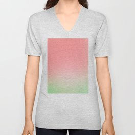 Watermelon Gradient Unisex V-Neck