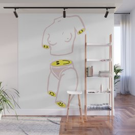 Happy Figure Wall Mural