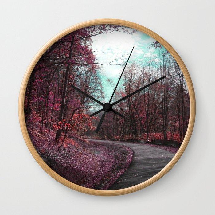 Passing Through II Wall Clock