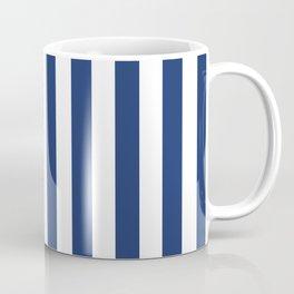 Vertical Navy Stripes Pattern Coffee Mug