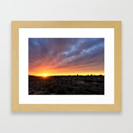 Jerusalem Sunset Framed Art Print