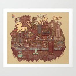 Pittsburgh Island Art Print