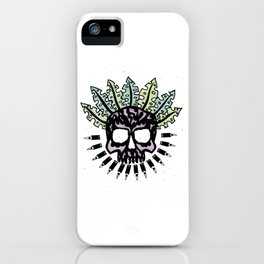 Jungle Bullet Skull iPhone Case