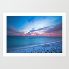 If By Sea - Sunset and Emerald Waters Near Destin Florida Art Print