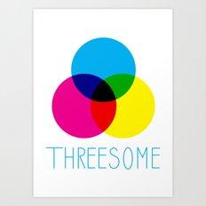 Threesome Art Print