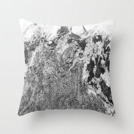 Marble Mountain Black and White I Throw Pillow