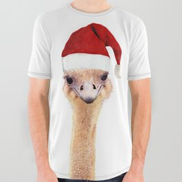 Ostrich Christmas All Over Graphic Tee