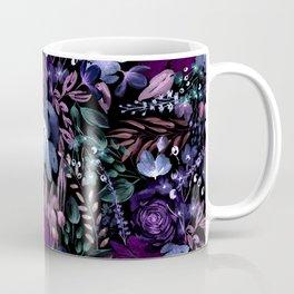 Deep Floral Chaos blue & violet Coffee Mug